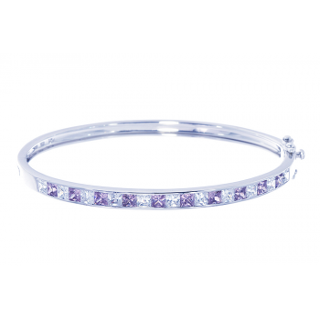 ScRose Pink Tourmaline Bangle