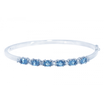 ScAquamarine Bangle