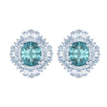 ScBlue Green Zircon Earring