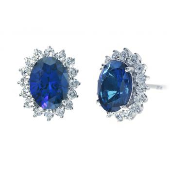 ScBlue Sapphire Earring