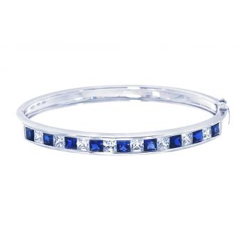 ScBlue Sapphire Bangle